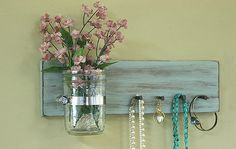 Could be a DIY for jewlery.....  Hey, I found this really awesome Etsy listing at https://www.etsy.com/listing/179480207/jewelry-key-holder-wall-hanging-vintage
