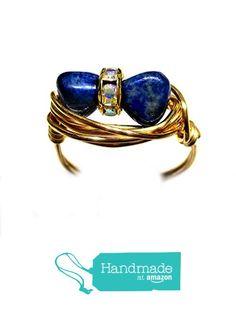 Stunning Lapis Lazuli Gemstone Nugget Duet Wire Wrap Ring All Sizes from Designer Wire Jewelry http://www.amazon.com/dp/B01D947QRI/ref=hnd_sw_r_pi_dp_-eT8wb12E8KYA #handmadeatamazon