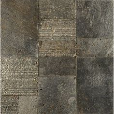 Random Mondrian patterned mosaic tile - Available in metallic pewter, silver, and gold from Ann Sacks AMAZING!