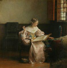 """Lady Laura Theresa Alma-Tadema, """"Sweet Industry"""""""