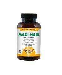 Country Life Maxi Hair Time Release, 90-Tablet - A dietary supplement to nourish hair, nails and skin. Product Features Dietary supplement Provides nourishment for hair, nails and skin Time release formula
