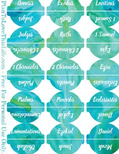 Freebie Watercolor Bible Tab Printables - Plan To Love This Life