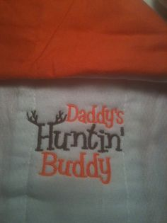 Matching Huntin' Burp Cloth