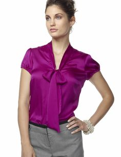 Love this kind of blouse with such a vibrant jewel tone @Jennifer Huerta @Katie Bettini