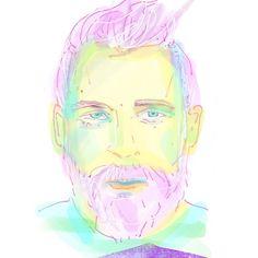 more beards I kinda like drawing them 100th Day, Pink Hair, Beards, Insta Art, Princess Zelda, Drawings, Illustration, Face, Artist