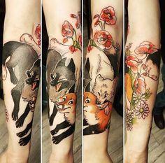 Fuki Fukari ink fox tattoo