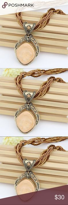 Crystal Dream Multilayer Bead Pendant Necklace Crystal Dream Multilayer Bead Twist Rope Chain Pendant & Necklace Jewelry
