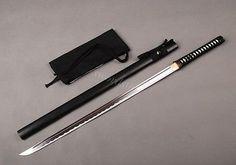 Handmade NINJA Japanese Full tang sword straight sharp knife can cut bamboo
