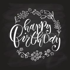 Stock vector of 'Hand sketched Happy Birthday text as Birthday logotype bad