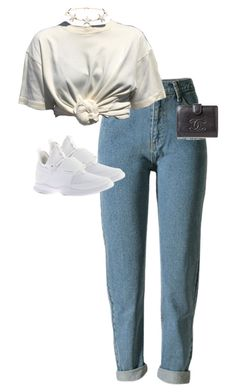 """""""Untitled #13700"""" by alexsrogers ❤ liked on Polyvore featuring WithChic, Puma, Chanel and Givenchy"""