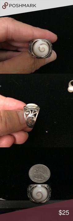 SS Shiva Shell Filigree Ring Sz7 Fun to weak Shiva Shell Ring in Size 7 Jewelry Rings