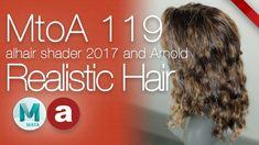 MtoA 119   Realistic Hair Shading   using Arnold with Maya 2017