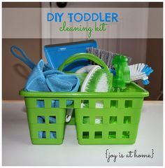 DIY Cleaning Kit (Toddler Activity) - all supplies from the Dollar Tree