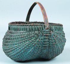 Blue Over Red Painted Buttocks Basket
