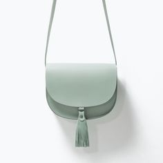 ZARA - WOMAN - LEATHER MESSENGER BAG WITH TASSELS