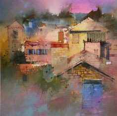 """""""Village Stirs""""--john lovett  **remarkable layering in these watercolors"""