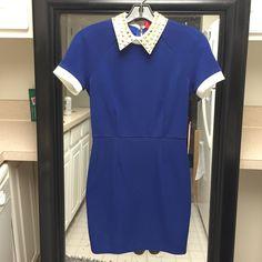 Blue dress Gold, blue, and white Forever 21 Dresses Midi