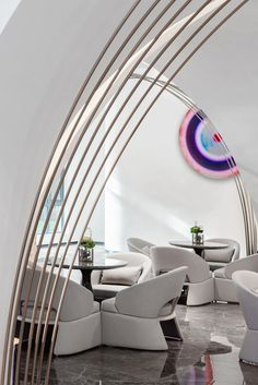 Restaurant Design, Restaurant Bar, Restaurant Interiors, Luxury Home Decor, Luxury Homes, Dubai Houses, Sales Center, Real Estate Sales, Architecture Design