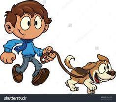 Image result for clipart dog walker