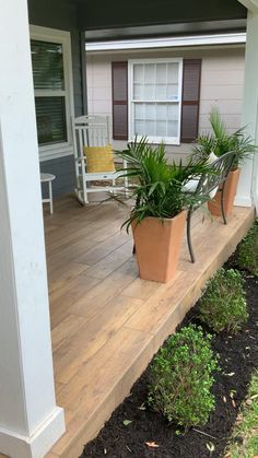 Installation of wood look tile over ditra underlayment for crack insulation. We use CQ mapei grout Porch Tile, Porch Wood, Concrete Porch, Patio Tiles, Porch Flooring, Concrete Wood, Front Porch Steps, Front Porch Design, Front Patio Ideas