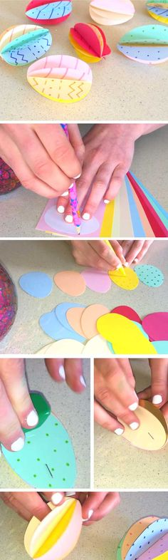 Colorful Eggs | Easy Easter Crafts for Toddlers to Make | Cheap Easter Gifts for Kids at School