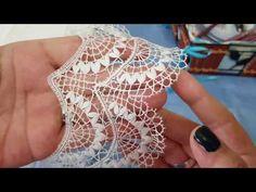 CAPRICHOS DE BOLILLOS Remate del encaje Irish Crochet, Crochet Shawl, Knit Crochet, Bobbin Lace Patterns, Crochet Patterns, Phulkari Embroidery, Lacemaking, Point Lace, Burlap Flowers
