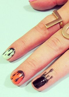 Cuticle Tattoos Are The Next Era Of Nail Art. Where should I pin this? Nails or Tattoos? Ah, the struggle. Health Guru, Health Trends, Hair And Makeup Tips, Hair And Nails, Cuticle Tattoos, Nail Tattoos, Womens Health Magazine, Funky Nails, Healthy Women