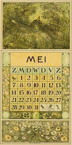Theodoor van Hoytema, calendar 1916 may