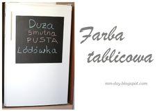 Serdecznie zapraszamy :)  Farba tablicowa na lodówce fridge Więcej na blogu: http://www.mm-day.blogspot.com/2014/04/tablicowa-lodowka.html
