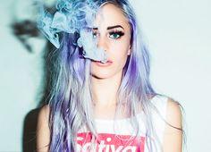 Blue*Purple*Platinum Hair