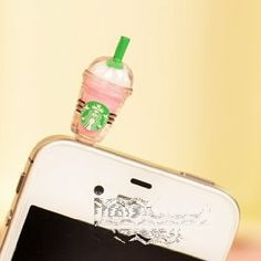 Amazon.com: Cyprustech - Hot New Starbucks Coffee Style 3.5mm 7Headphone Anti-dust Plug Cap for Iphone 4 4S Samsung Galaxy HTC LG - Pink Color: Cell Phones & Accessories