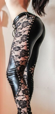 leather and lace... these are WOW! I need to know where to find there???