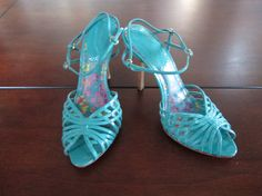 Available @ trendtrunk.com Unique Turquoise Blue Strappy Sandals. Shoes by Aldo. Only $26.75!