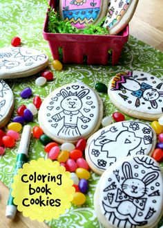 Easter Coloring Book Cookies with Munchkin Munchies {Guest Post} @SweetSugarBelle {Callye Alvarado}  #easter #spring #kids