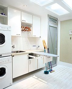 Do you want make small laundry room look like functional for home and apartement? Laundry rooms are often overlooked because you work too much at home and apartement. Here our team gave 30 Laundry Room Design Ideas. Laundry Decor, Small Laundry Rooms, Laundry Room Organization, Laundry Room Design, Laundry In Bathroom, Interior Design Living Room, Living Room Designs, Drying Room, Small Room Bedroom