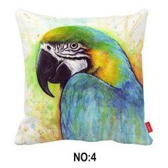 Watercolor Bird Pillowcase Variety