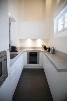 Die Stabile Kücheneinrichtung: Beton Arbeitsplatte