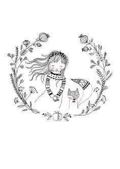 Ansichtkaart dream girl | Marieke ten Berge