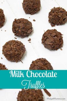 Milk Chocolate Truffles. Make these easy to make Milk Chocolate Truffles at home for a sweet treat. These Milk Chocolate Truffles make a great homemade gift