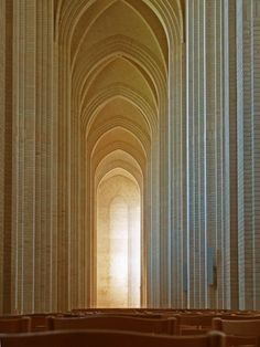 Grundtvig's Church - building commenced in 1921, but main architect Peder Vilhelm Jensen-Klint died in 1930; succeeded by his son Kaare Klint and later his grandson Esben Klint, who completed the church in 1940, in Kopenhagen, Denmark