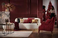 Un salon de Noël bling bling - Marie Claire