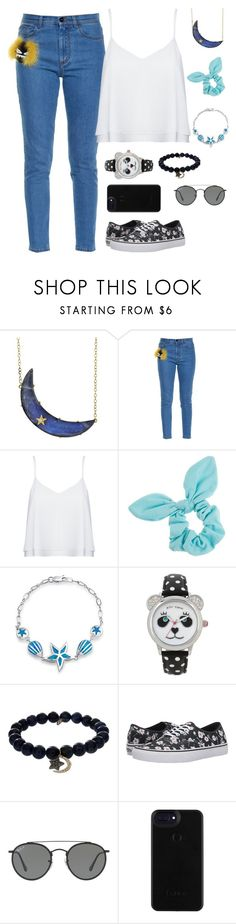 """let's be friends"" by cecilialukas ❤ liked on Polyvore featuring Andrea Fohrman, Fendi, Alice + Olivia, Dorothy Perkins, Bling Jewelry, Betsey Johnson, Sydney Evan, Vans and Ray-Ban"