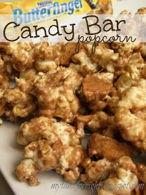 My Table For Eight {by Jen}: Candy Bar Popcorn