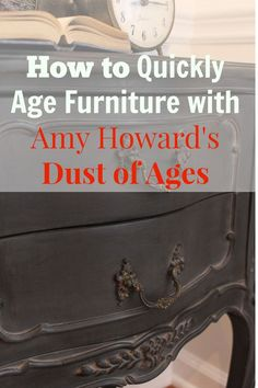 Dust of Ages is one of my favorite products in the Amy Howard at Home line. It looks phenomenal over dark colored One Step paint….Black, Graphite, Windsor, A Good Man….you name it. It…