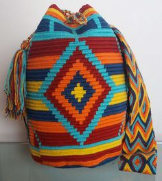 Tapestry Crochet Patterns, Tapestry Bag, Crochet Projects, Purses And Bags, Needlework, Bleu Orange, Men Sweater, Poufs, Tote Bag