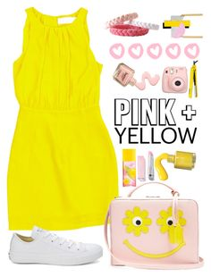 """""""Pink and Yellow"""" by gicreazioni ❤ liked on Polyvore featuring Emilia Wickstead, Mark Cross, Fujifilm, Converse, Elizabeth Arden, Lorion, etsy, bracelet and handmade"""
