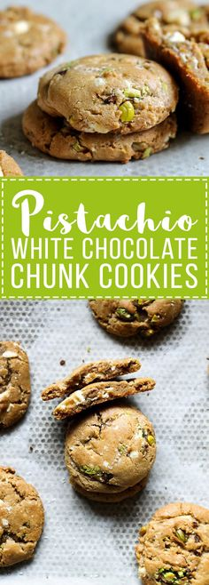 Pinner wrote: These Pistachio White Chocolate Chunk Cookies are made with a browned butter dough and filled with chopped white chocolate and pistachios. These unique cookies are incredibly delicious!