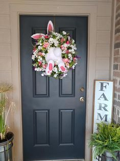 34 Beautiful Porch Wall Decor Ideas to Make Your Outdoor Area More Welcoming - The Trending House Wreaths For Front Door, Door Wreaths, Grapevine Wreath, Front Doors, Easter Wreaths, Christmas Wreaths, Porch Wall Decor, Diy Easter Decorations, Bridal Decorations