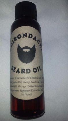 Hand Crafted Adirondacks Beard Oil 2oz for Men-Tea Tree scent  #Adirondacks
