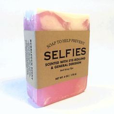 WHISKEY RIVER SOAP CO. Selfies Soap | Bubblegum Scent (SELFIESOAP)